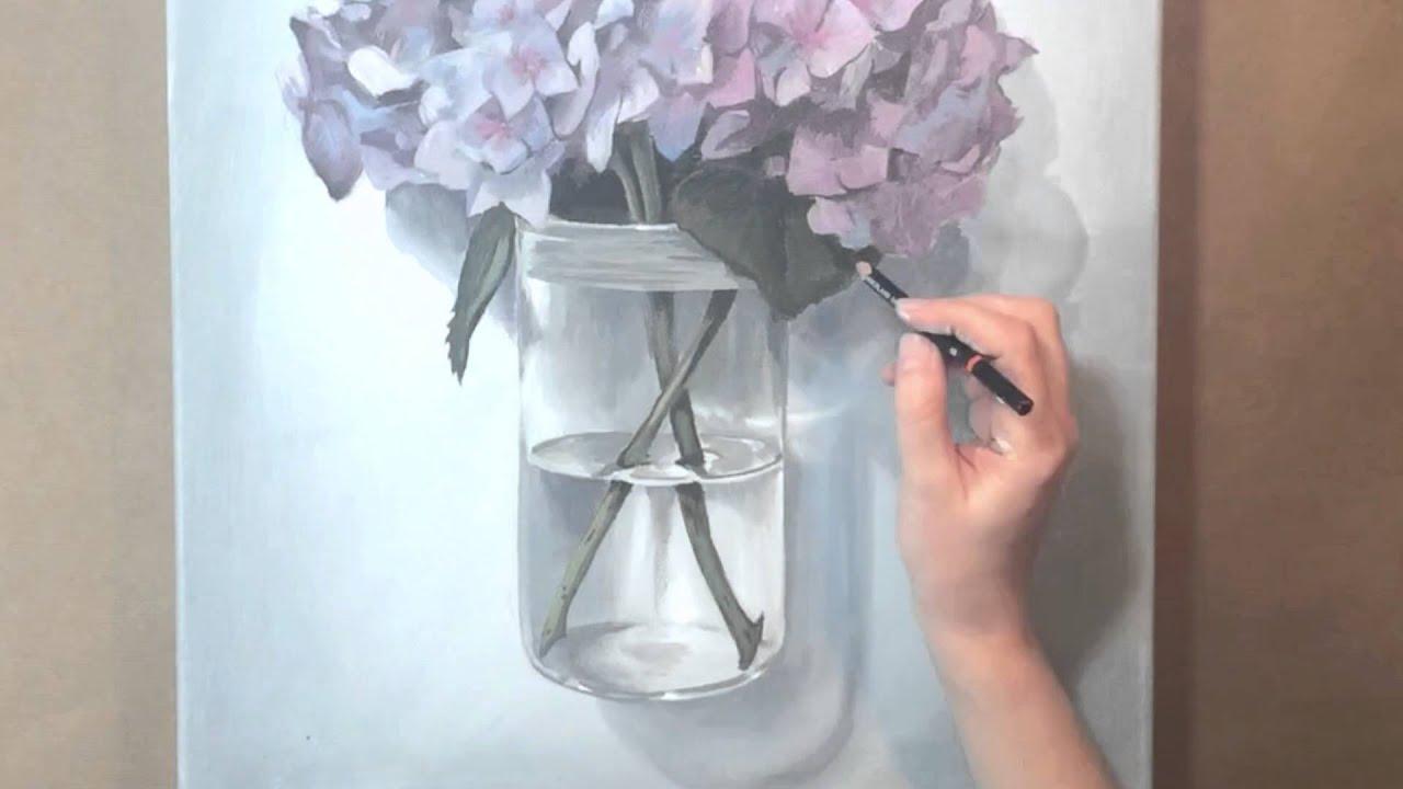 Painting hydrangea time lapse acrylic painting youtube painting hydrangea time lapse acrylic painting reviewsmspy
