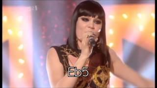 (HD) Jessie J - Live Vocal Range (Eb3 - F6)