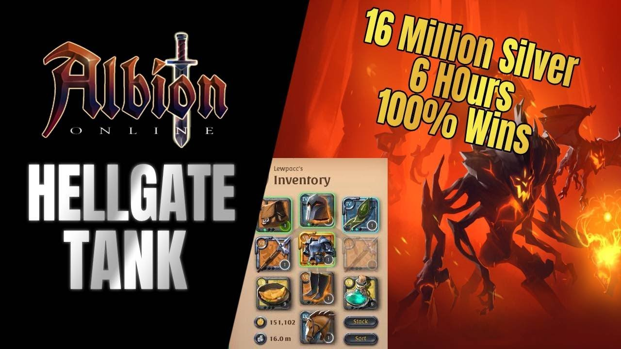 Albion Online | NEW tank Build!! - I made 16 4 Million in 6 hours of  Hellgates (100% wins)