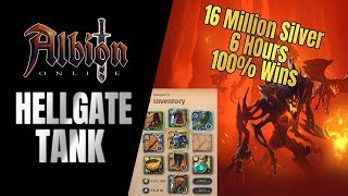 Albion Online | NEW tank Build!! - I made 16.4 Million in 6 hours of Hellgates (100% wins)