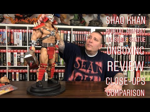 Shao Khan (Mortal Kombat) 1/4 Statue Unboxing Review Close-Ups & Comparison