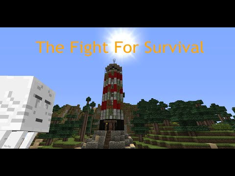 Minecraft Fight For Survival Ep: 1: Battle of the cave