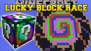 Minecraft: SPIRAL DROPPER LUCKY BLOCK RACE - Lucky Block Mod - Modded Mini-Game