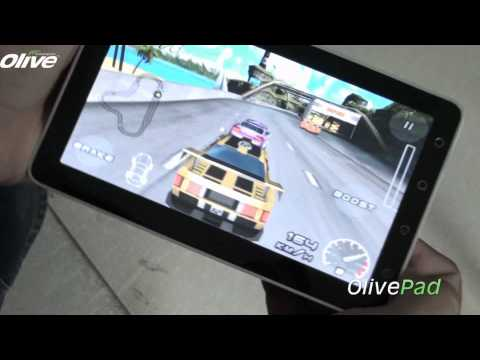 Playing Raging Thunder Game On The OlivePad VT-100  Android Tablet PC