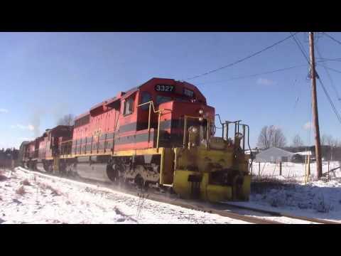 Cape Breton & Central Nova Scotia Railway Train 306 at Murray Siding, NS (Feb 3, 2017)