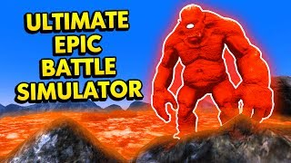 UEBS - GOD OF THE VOLCANO MAP! (Ultimate Epic Battle Simulator / UEBS Funny Gameplay)