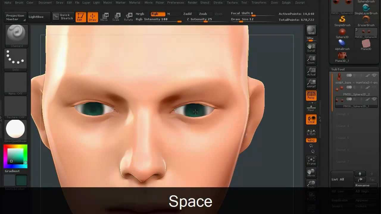 Zbrush Poly Paint Color Picker