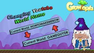 Growtopia - Changing Youtube World Name!