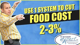 Restaurant Management Tip - 1 Simple System to Reduce food Cost Overnight #restaurantsystems