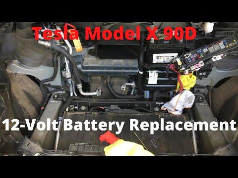 Tesla Model X 12-Volt Battery Replacement 9 18 2018  #tesla12voltbatteryreplacement #diy