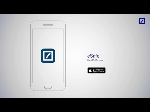 """eSafe in der """"Deutsche Bank Mobile""""-App"""