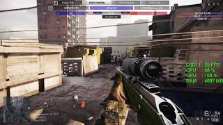 AMD Radeon RX 560 -- Intel Core i3-7100 -- Battlefield 4 FPS test Flood Zone Online