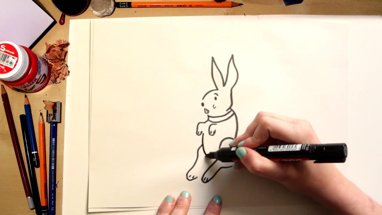 🐰⚡Como dibujar un conejo de Pascua fácil! (comentado) - YouTube