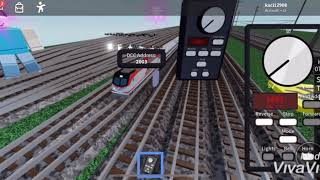 Red Amtrak red higt unit train Roblox