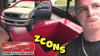 SSA ZCON Subwoofer Box w/ RED Splattered Paint | Daltons 4th Order Bandpass & Taramps 8000 Watt Amp