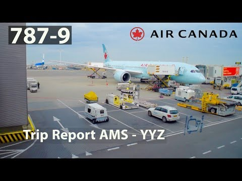 (HD) [TRIP REPORT] AIR CANADA B787-9 | ECONOMY CLASS!! | AMS