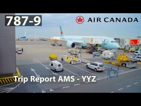 (HD) [TRIP REPORT] AIR CANADA B787-9 | ECONOMY CLASS!! | AMSTERDAM - TORONTO |  AC 825