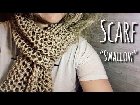 Связать ажурный шарф спицами схемы