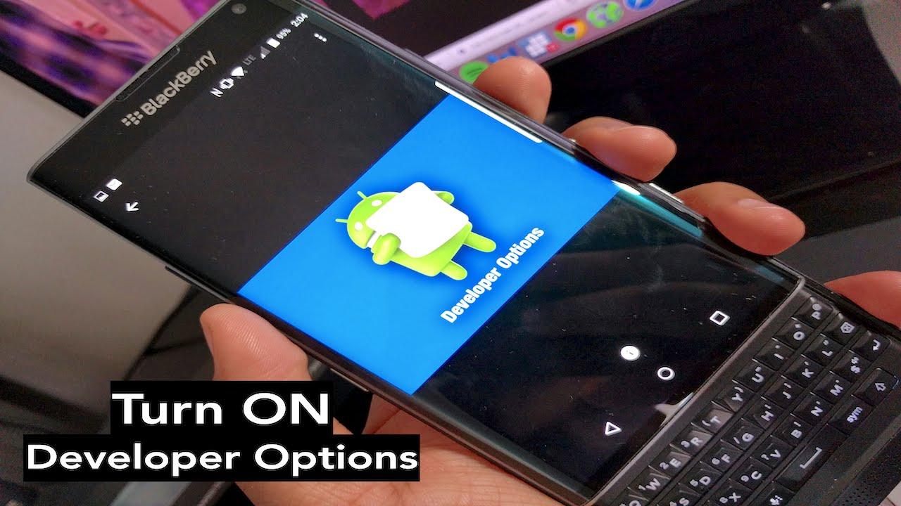 how to turn on developer options for the blackberry priv