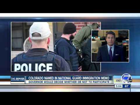 Colorado named in National Guard immigration memo