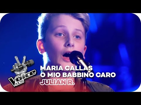 Maria Callas - O Mio Babbino Caro (Julian R.) | Blind Auditions 2018 | The Voice Kids | SAT.1