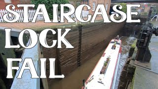 When Staircase Locks Go Wrong - Narrowboat Living - Episode 81