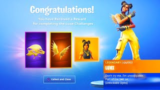 The New MAX LUXE SKIN in Fortnite.. (Gold Luxe Tier 100 Skin)