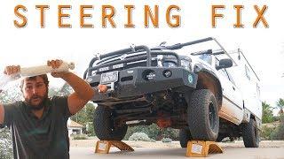 REPLACING a CRUSHED STEERING STABILIZER DAMPENER - Dodge Ram