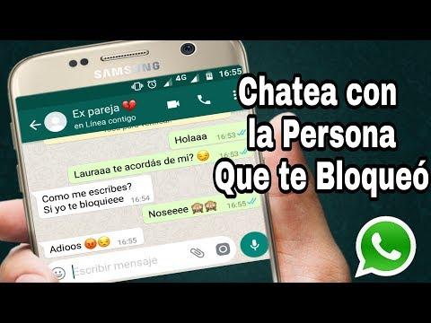 DESBLOQUEAR Quien Te Haya Blokeado Por WHATSAPP   Envia Chat Ala Persona Que Te Bloqueó