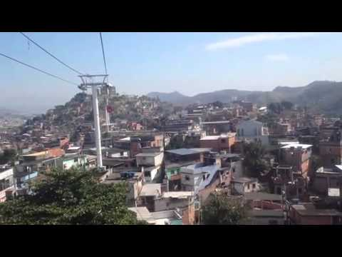 Rio's new Cable Car system into the Favela.