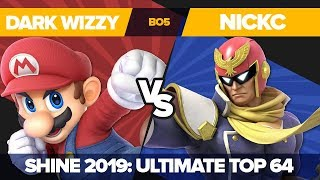 Dark Wizzy Vs Nickc - Losers' Round 5: Ultimate Singles - Shine 2019 | Mario