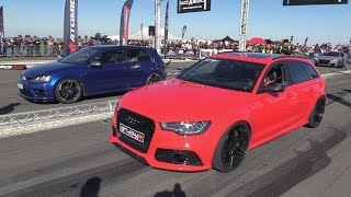 Audi RS6 Avant vs Volkswagen Golf 7 R!