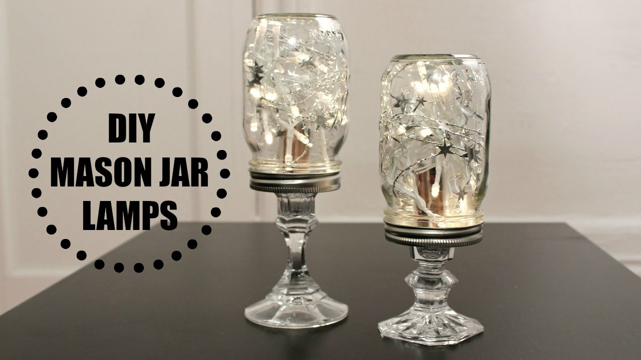Diy mason jar lamps youtube geotapseo Images