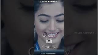 Inkem Inkem 💞Rashmika Mandanna 💞 | Geetha Govindam | Full Screen Status || TV Creationss ||480p