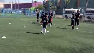 Fuerza explosiva fútbol campamento