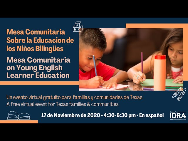 Mesa Comunitaria on Young English Learners' Education