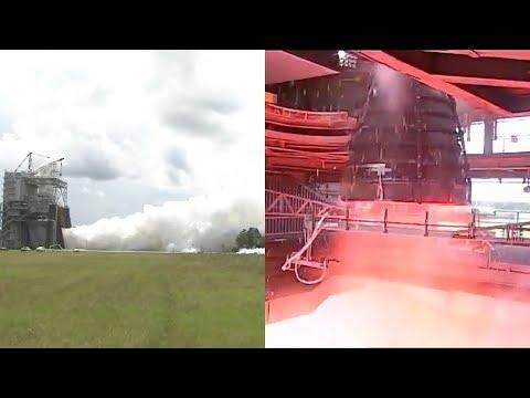 SLS RS-25 Engine Test, 9 August 2017