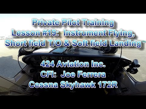 Private Pilot Flight Training, Lesson #19: Instrument (IFR) & VOR Navigation