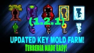 *UPDATED* BEST TERRARIA KEY MOLD FARM!! (AFK) (Works with mobile and PC, 1.2.1 & 1.3)