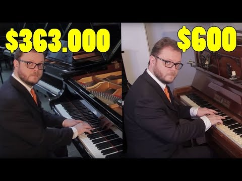 Can You Hear the Difference Between Cheap and Expensive Pianos?: Can you hear the difference between cheap and expensive pianos? I started the video by playing in a cheap  piano, and then in the more expensive ones. I played 5 different pianos. Can you hear any difference in sound? Which one has the best sound? Subscribe!! http://goo.gl/dH53fJ Instagram: http://goo.gl/9FAFP5  Twitter: http://goo.gl/x5V4kf