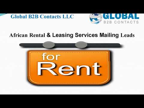 African Rental & Leasing Services Mailing Leads, info@globalb2bcontacts.com