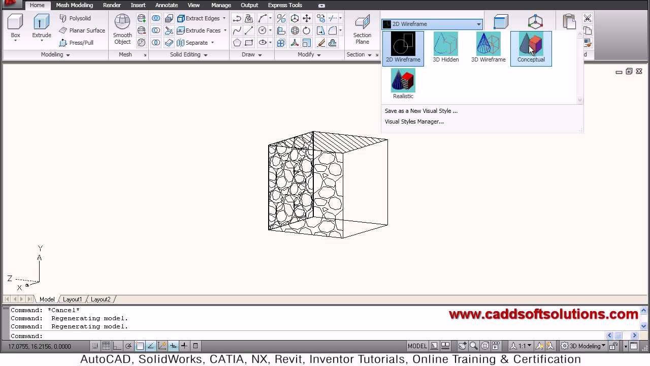 Autocad 3d Hatch Tutorial Part 1 Youtube