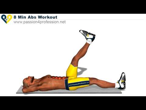 Ab Workouts – How to Get SIX PACK in 8 Minutes (For Beginners)