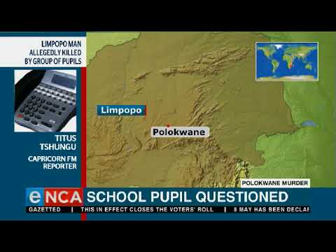 A school pupil is being questioned by police over the alleged murder of Thoriso Themane