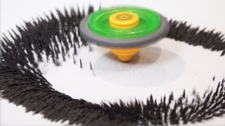 beyblade moving sand special move brought to life libra sand stadium anime vs real life