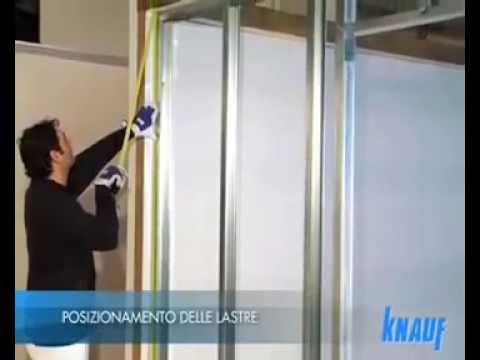 Cartongesso Knauf : Knauf posa della parete in cartongesso fase la posa youtube