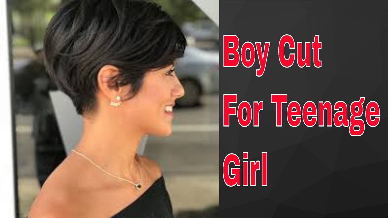 Girls Long To Short Pixie Hair Cut  Boy Cut For Teenage