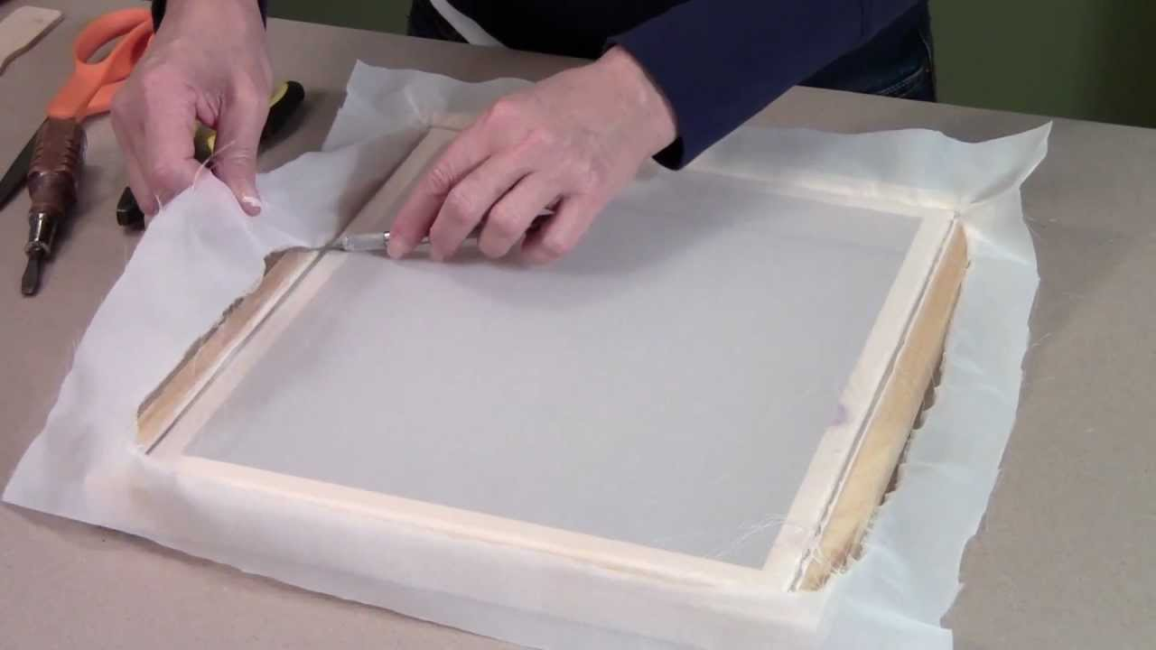 Replacing the screen printing fabric - YouTube