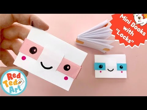 NEW Easier Mini Notebook No Glue One Sheet of paper