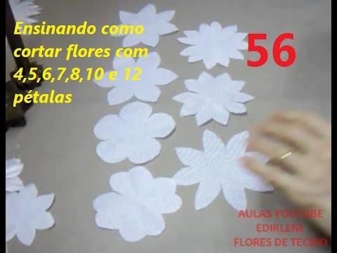 Aula 56 Como Cortar Flores Com 4 5 6 7 8 10 E12 Pétalas